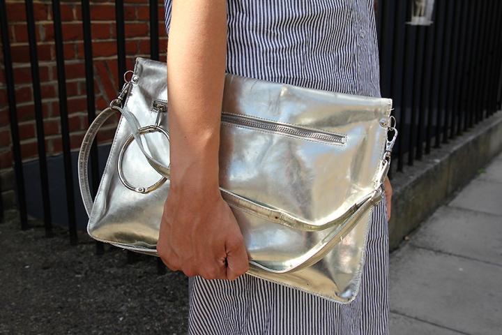 IMG_8526 Silver metallic clutch s