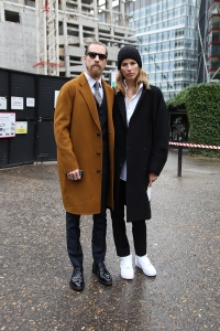 Justin Oshea and Veronica Heilbrunner, London Fashion Week