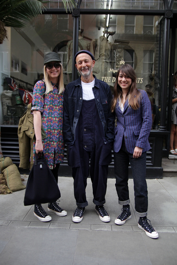 IMG_1914s Stacey, Nigel Cabourn and Emily